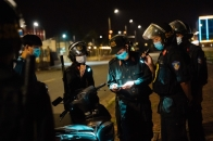 Lực lượng sát cơ động tuần tra vũ trang ban đêm